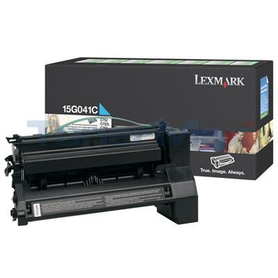 LEXMARK C752 RP PRINT CART CYAN 6K